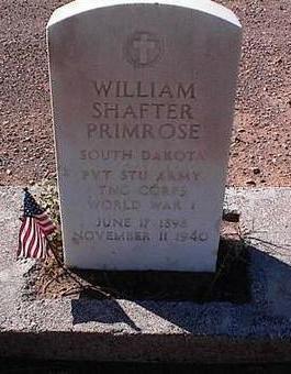 PRIMROSE, WILLIAM SHAFTER - Pinal County, Arizona | WILLIAM SHAFTER PRIMROSE - Arizona Gravestone Photos