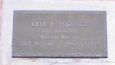 PROSSER, LYLE E. - Pinal County, Arizona | LYLE E. PROSSER - Arizona Gravestone Photos