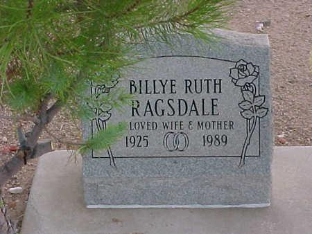 RAGSDALE, BILLYE RUTH - Pinal County, Arizona | BILLYE RUTH RAGSDALE - Arizona Gravestone Photos