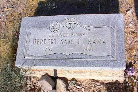 RAMA, HERBERT  SAMUEL - Pinal County, Arizona | HERBERT  SAMUEL RAMA - Arizona Gravestone Photos