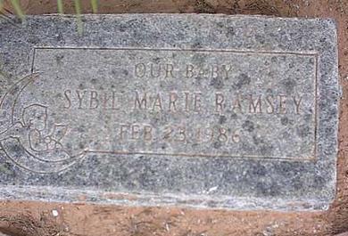 RAMSEY, SYBIL MARIE - Pinal County, Arizona | SYBIL MARIE RAMSEY - Arizona Gravestone Photos