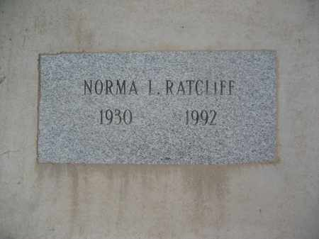 RATCLIFF, NORMA L. - Pinal County, Arizona | NORMA L. RATCLIFF - Arizona Gravestone Photos
