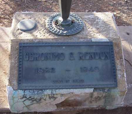 RENDON, GERONIMO S. - Pinal County, Arizona   GERONIMO S. RENDON - Arizona Gravestone Photos