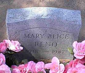 RENO, MARY ALICE - Pinal County, Arizona | MARY ALICE RENO - Arizona Gravestone Photos