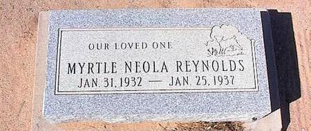 REYNOLDS, MYRTLE NEOLA - Pinal County, Arizona   MYRTLE NEOLA REYNOLDS - Arizona Gravestone Photos