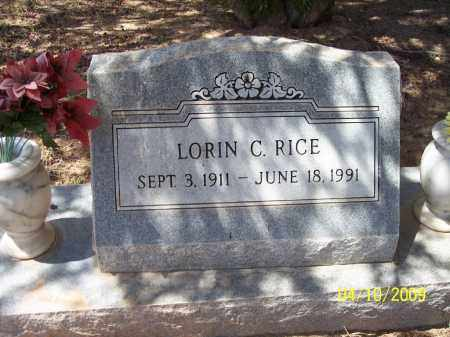 RICE, LORIN C. - Pinal County, Arizona | LORIN C. RICE - Arizona Gravestone Photos