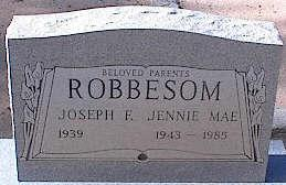 ROBBESOM, JOSEPH E. - Pinal County, Arizona | JOSEPH E. ROBBESOM - Arizona Gravestone Photos