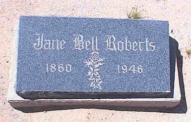 ROBERTS, JANE BELL - Pinal County, Arizona | JANE BELL ROBERTS - Arizona Gravestone Photos