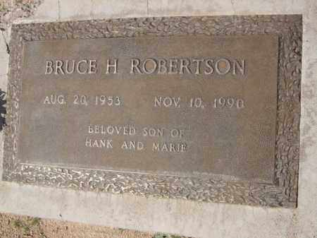 ROBERTSON, BRUCE H. - Pinal County, Arizona | BRUCE H. ROBERTSON - Arizona Gravestone Photos