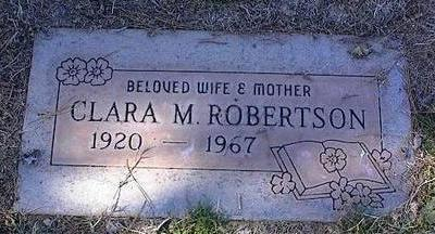 ROBERTSON, CLARA M. - Pinal County, Arizona | CLARA M. ROBERTSON - Arizona Gravestone Photos