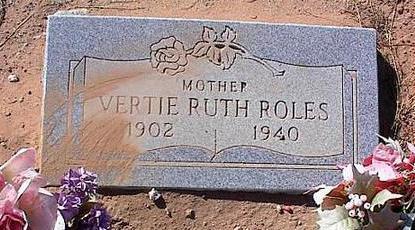 ROLES, VERTIE RUTH - Pinal County, Arizona | VERTIE RUTH ROLES - Arizona Gravestone Photos