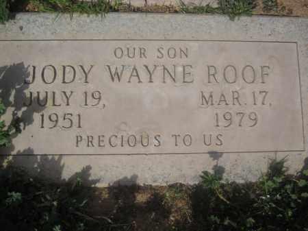 ROOF, JODY WAYNE - Pinal County, Arizona   JODY WAYNE ROOF - Arizona Gravestone Photos