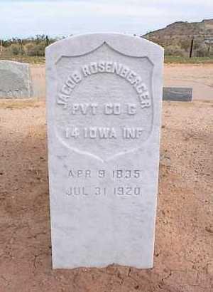 ROSENBERGER, JACOB - Pinal County, Arizona | JACOB ROSENBERGER - Arizona Gravestone Photos