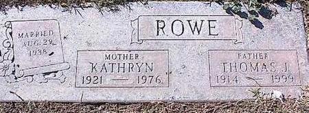 ROWE, KATHRYN - Pinal County, Arizona | KATHRYN ROWE - Arizona Gravestone Photos