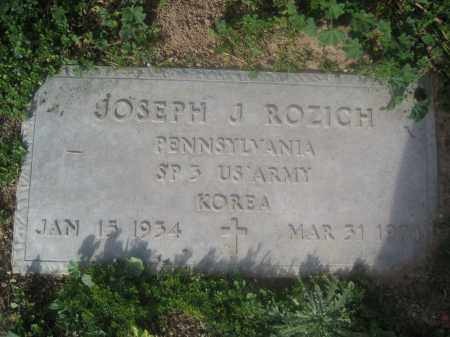 ROZICH, JOSEPH J. - Pinal County, Arizona | JOSEPH J. ROZICH - Arizona Gravestone Photos