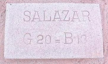 SALAZAR, UNKNOWN - Pinal County, Arizona | UNKNOWN SALAZAR - Arizona Gravestone Photos