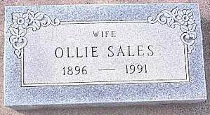 SALES, OLLIE - Pinal County, Arizona | OLLIE SALES - Arizona Gravestone Photos