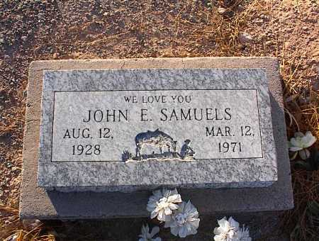 SAMUELS, JOHN E. - Pinal County, Arizona | JOHN E. SAMUELS - Arizona Gravestone Photos