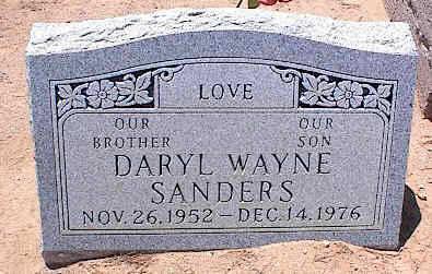 SANDERS, DARYL WAYNE - Pinal County, Arizona | DARYL WAYNE SANDERS - Arizona Gravestone Photos