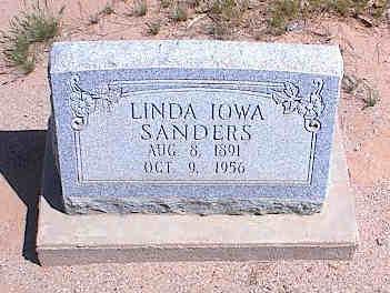 SANDERS, LINDA IOWA - Pinal County, Arizona | LINDA IOWA SANDERS - Arizona Gravestone Photos