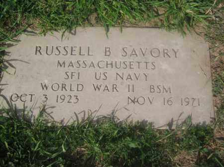 SAVORY, RUSSELL B. - Pinal County, Arizona | RUSSELL B. SAVORY - Arizona Gravestone Photos