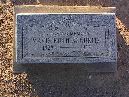 SCHURITZ, MAVIS RUTH - Pinal County, Arizona | MAVIS RUTH SCHURITZ - Arizona Gravestone Photos