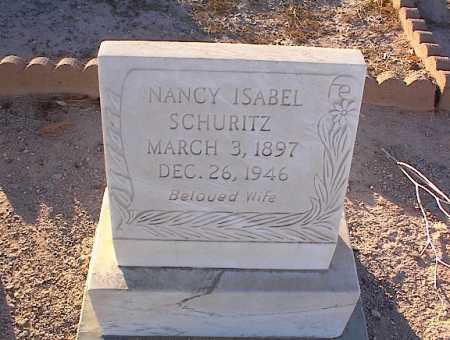 MOSER SCHURITZ, NANCY ISABEL - Pinal County, Arizona   NANCY ISABEL MOSER SCHURITZ - Arizona Gravestone Photos