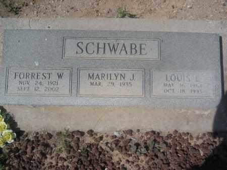 SCHWABE, LOUIS E. - Pinal County, Arizona | LOUIS E. SCHWABE - Arizona Gravestone Photos
