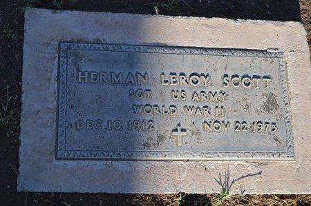 SCOTT, HERMAN LEROY - Pinal County, Arizona | HERMAN LEROY SCOTT - Arizona Gravestone Photos