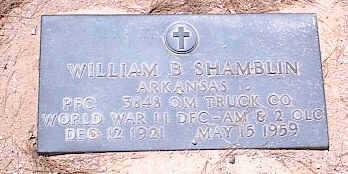SHAMBLIN, WILLIAM B. - Pinal County, Arizona | WILLIAM B. SHAMBLIN - Arizona Gravestone Photos