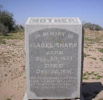 SHARP, ISABEL - Pinal County, Arizona | ISABEL SHARP - Arizona Gravestone Photos