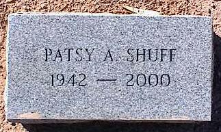 SHUFF, PATSY A. - Pinal County, Arizona | PATSY A. SHUFF - Arizona Gravestone Photos