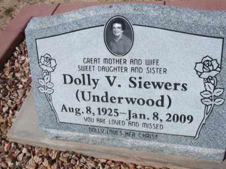 UNDERWOOD SIEWERS, DOLLY V. - Pinal County, Arizona   DOLLY V. UNDERWOOD SIEWERS - Arizona Gravestone Photos
