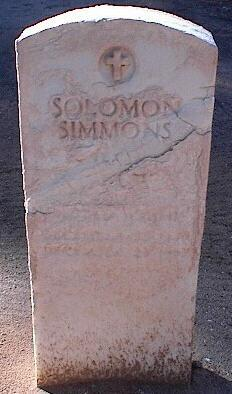SIMMONS, SOLOMON - Pinal County, Arizona | SOLOMON SIMMONS - Arizona Gravestone Photos
