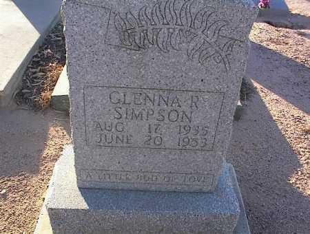 SIMPSON, GLENNA R. - Pinal County, Arizona | GLENNA R. SIMPSON - Arizona Gravestone Photos