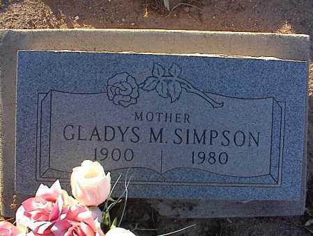 SIMPSON, GLADYS M. - Pinal County, Arizona | GLADYS M. SIMPSON - Arizona Gravestone Photos