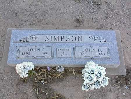 SIMPSON, JOHN F. - Pinal County, Arizona | JOHN F. SIMPSON - Arizona Gravestone Photos