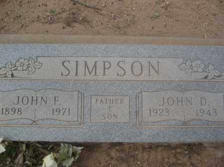 SIMPSON, JOHN F. - Pinal County, Arizona | JOHN F. SIMPSON - Arizona Gravestone Photos