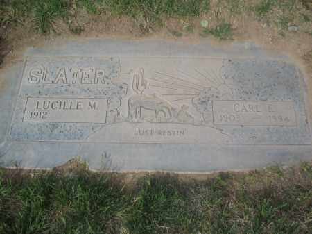 SLATER, CARL E. - Pinal County, Arizona | CARL E. SLATER - Arizona Gravestone Photos