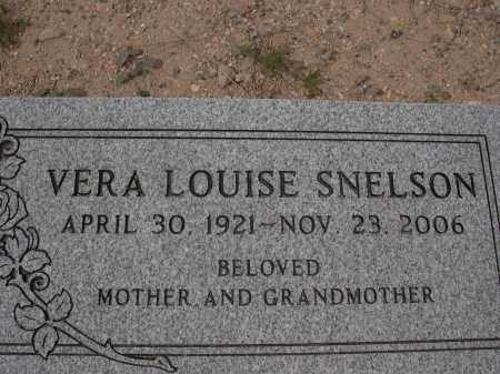 SNELSON, VERA LOUISE - Pinal County, Arizona | VERA LOUISE SNELSON - Arizona Gravestone Photos