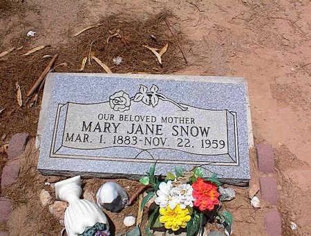 SNOW, MARY JANE - Pinal County, Arizona | MARY JANE SNOW - Arizona Gravestone Photos