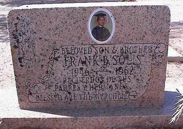 SOLIS, FRANK B. - Pinal County, Arizona   FRANK B. SOLIS - Arizona Gravestone Photos