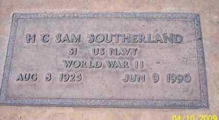 SOUTHERLAND, H.C. SAM - Pinal County, Arizona   H.C. SAM SOUTHERLAND - Arizona Gravestone Photos