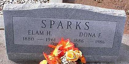 SPARKS, ELAM H. - Pinal County, Arizona   ELAM H. SPARKS - Arizona Gravestone Photos