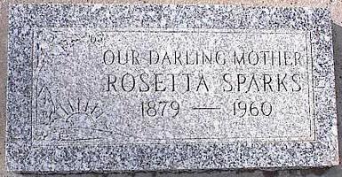 SPARKS, ROSETTA - Pinal County, Arizona | ROSETTA SPARKS - Arizona Gravestone Photos