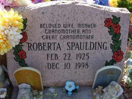SPAULDING, ROBERTA - Pinal County, Arizona   ROBERTA SPAULDING - Arizona Gravestone Photos
