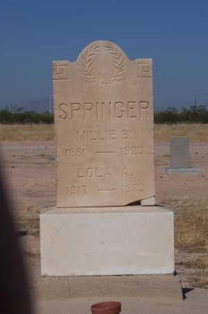 SPRINGER, LOLA A. - Pinal County, Arizona | LOLA A. SPRINGER - Arizona Gravestone Photos