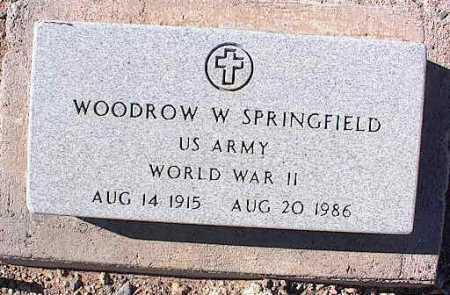 SPRINGFIELD, WOODROW W. - Pinal County, Arizona | WOODROW W. SPRINGFIELD - Arizona Gravestone Photos