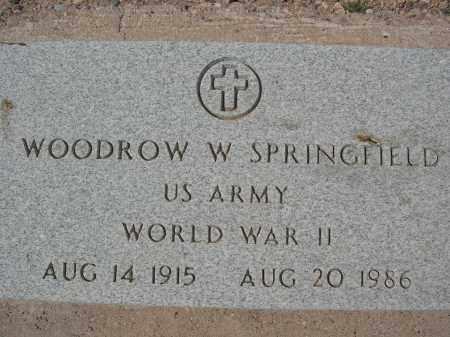 SPRINGFIELD, WOODROW W. - Pinal County, Arizona   WOODROW W. SPRINGFIELD - Arizona Gravestone Photos