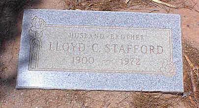STAFFORD, LLOYD C. - Pinal County, Arizona   LLOYD C. STAFFORD - Arizona Gravestone Photos